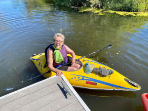 Kenmore Waterfront Activities - Claudia in kayak