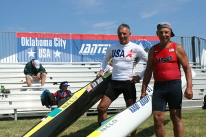 Karol at ICF Canoe Marathon Masters World Cup, Oklahoma City, September 2014