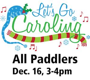 All paddle Christmas Caroling