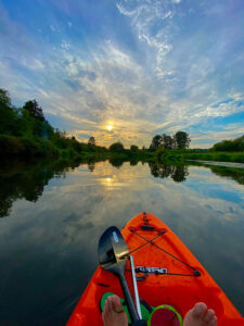 Kenmore Waterfront Activities - Kayak Sunset